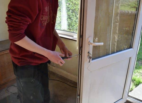 josh repairing lock