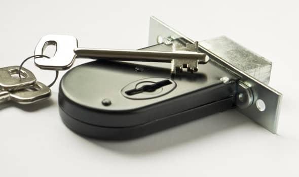 New door lock with key