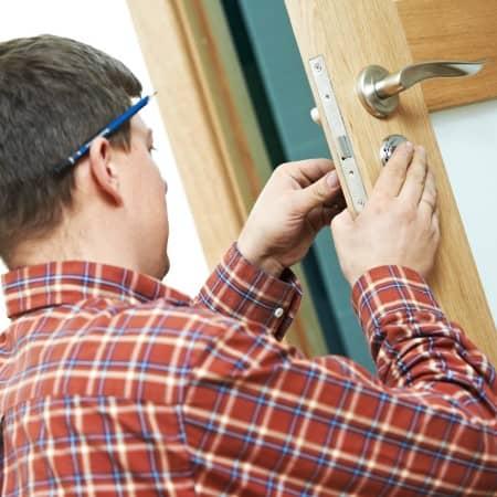 Locksmiths working
