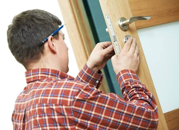 Locksmiths working